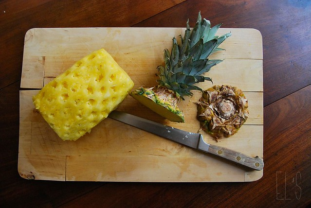fleurs ananas séchées