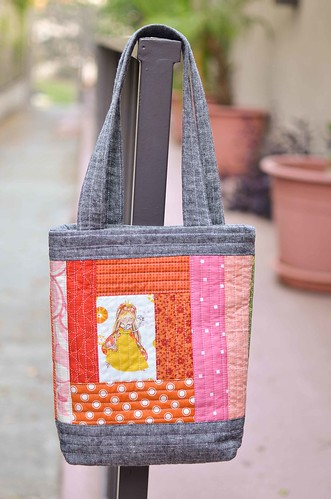 mini perfect quilted tote size b