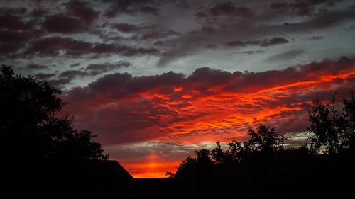 sky night sunrise fire cloudy
