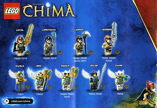Legends Of Chima minifigs