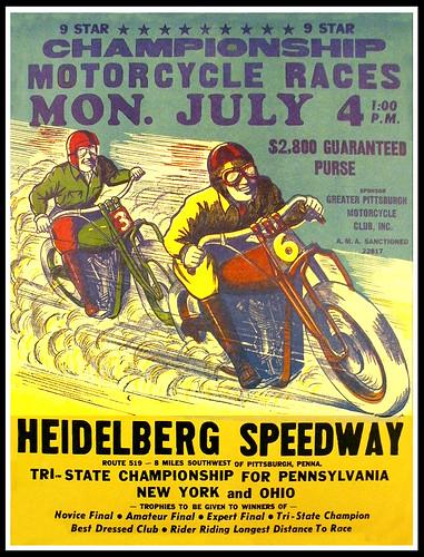Heidelberg Speedway poster by bullittmcqueen