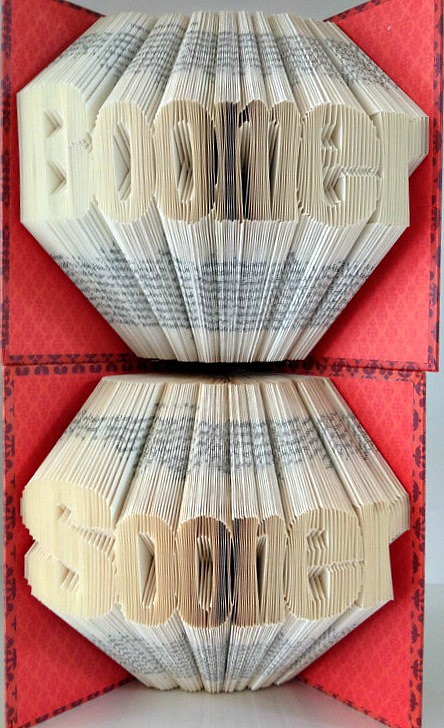 folded book sculptures