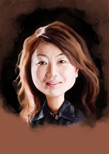 digital caricature of Winnie Hung for Hewlett Packard (revised) - 3