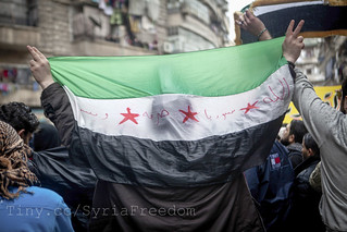 Demonstration against Assad regime in Aleppo, Syria