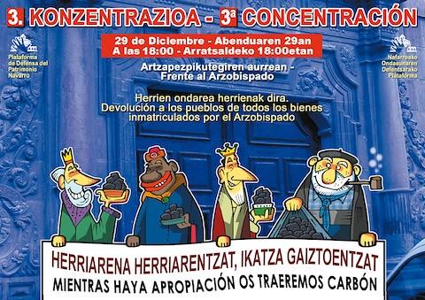 Olentzero y los Reyes Magos entregarán carbón al Arzobispado