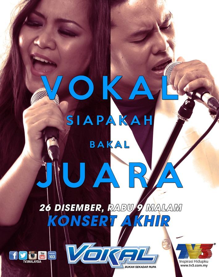 Poster Konsert Akhir VOKAL 2