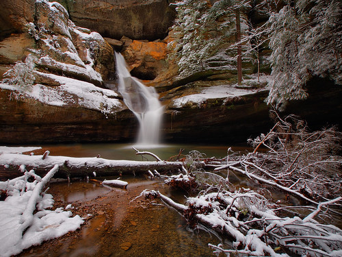 snow waterfall cedarfalls hockinghillsstatepark ohiostatepark