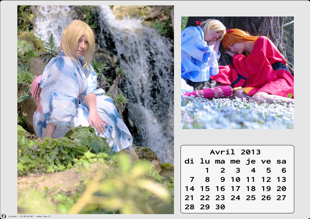 related image - Calendrier Cosplay  2013 - 04 - Avril