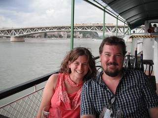 Nat and Tim in Budapest