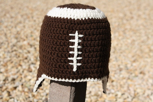Football Crochet Hat
