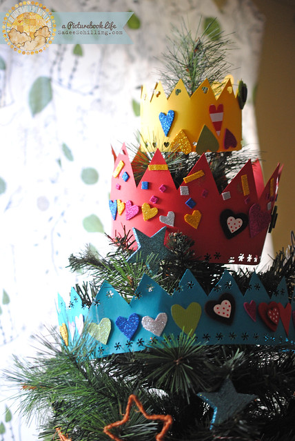 crowned christmas tree