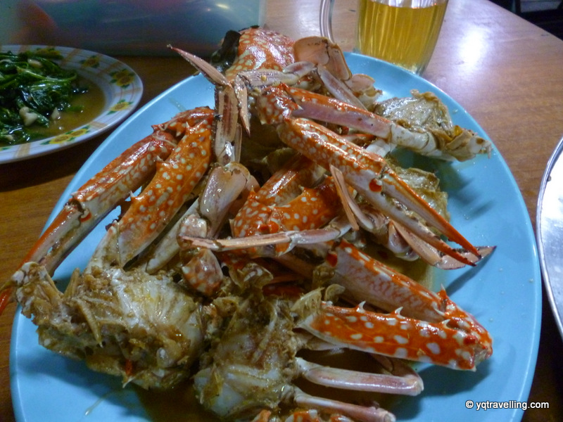 Seafood in Sabah, butter crabs