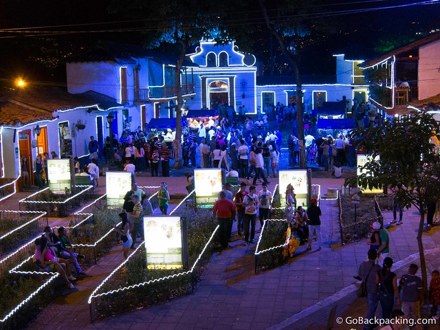 The 2012 holiday light display in Pueblito Paisa