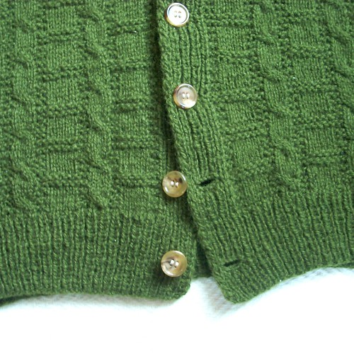 1940s cardigan: buttons by Asplund