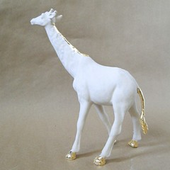 Gilded Ceramic Animal Sculpture