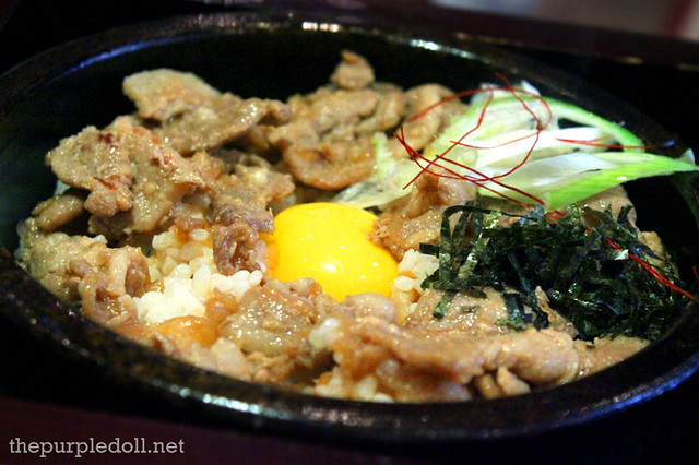 Pork Rice with Egg Yolk in Stone Pot P225