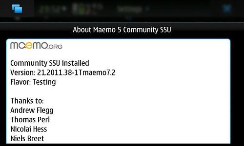 About Maemo5 CSSU Ver.21.2011.38-1Tmaemo7.2