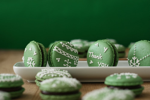 matcha macarons - thanks