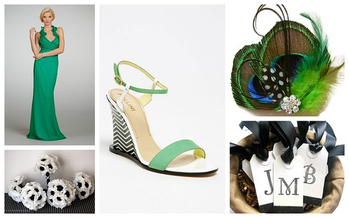 Mod Bridal Style: Green, Black + White by Nina Renee Designs