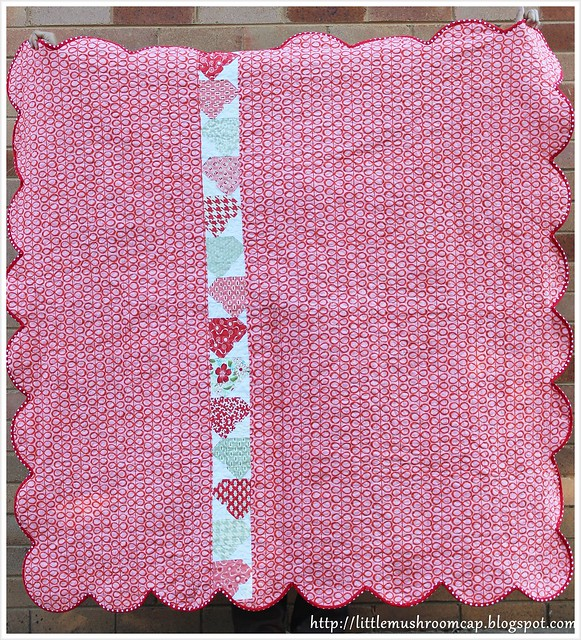 VM-I Heart Quilt - Walking Quilt back