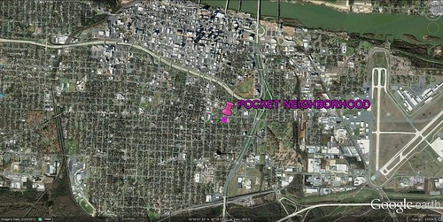location of Pettaway Pocket Neighborhood (via Google Earth)