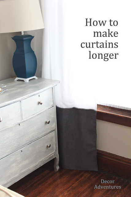 How to make curtains longer living room update decor How to make a valance without sewing