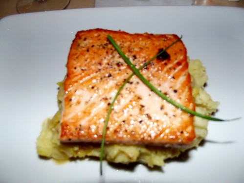 Salmon Dinner at Be Our Guest Restaurant