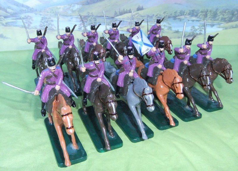 Tim Gow's restro style toy Cossack cavalry soldiers