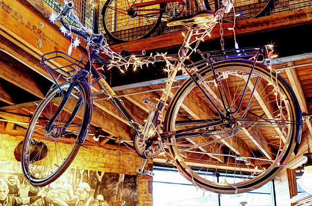Bicycle Display - Cafe Hollander