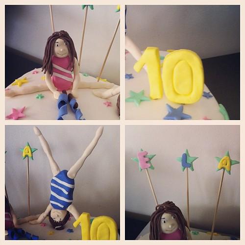 #gymnasticgirl#birthdaycake#sugarpaste #sugarart #10thbirthday by l'atelier de ronitte