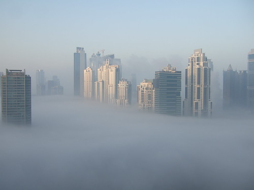 Foggy Dubai Marathon Morning