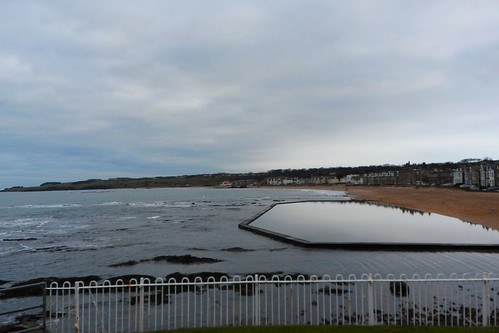 North Berwick beach and paddling pool