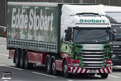 Scania R440 6x2 Tractor - PN10 ZKY - Rosie Mae - Green & Red - Eddie Stobart - M1 J10 Luton - Steven Gray - IMG_9041