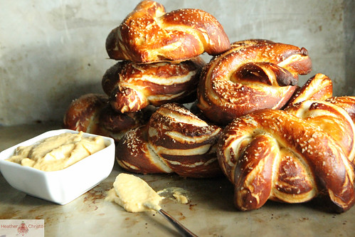 Soft Pretzels with Sweet and Spicy Onion Mustard