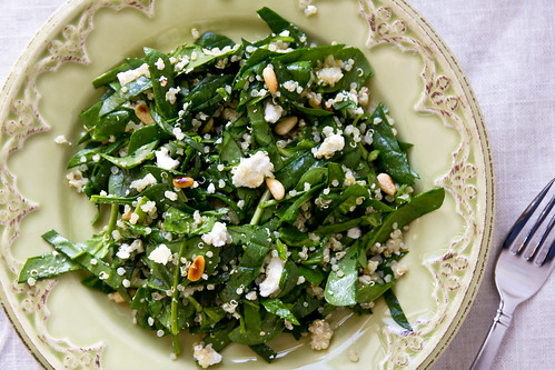 Spinach & Quinoa Salad with Goat Cheese