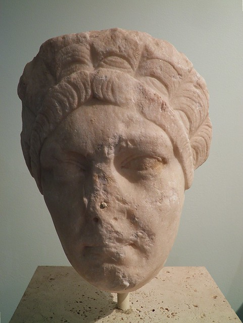 Portrait of Ulpia Marciana, sister of emperor Trajan, dating from the 2nd century AD, Civico museo archeologico di Milano