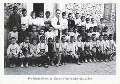 D. Miguel Beltrán y sus alumnos.