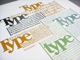 Lubalin poster set, print #3: Type poster
