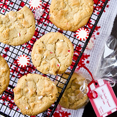 White Chocolate-Peppermint Chunk Cookies