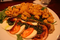 Calamari with Italian salad
