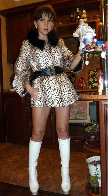 Woman In Leopard Print Dress - A Gallery On Flickr-4813