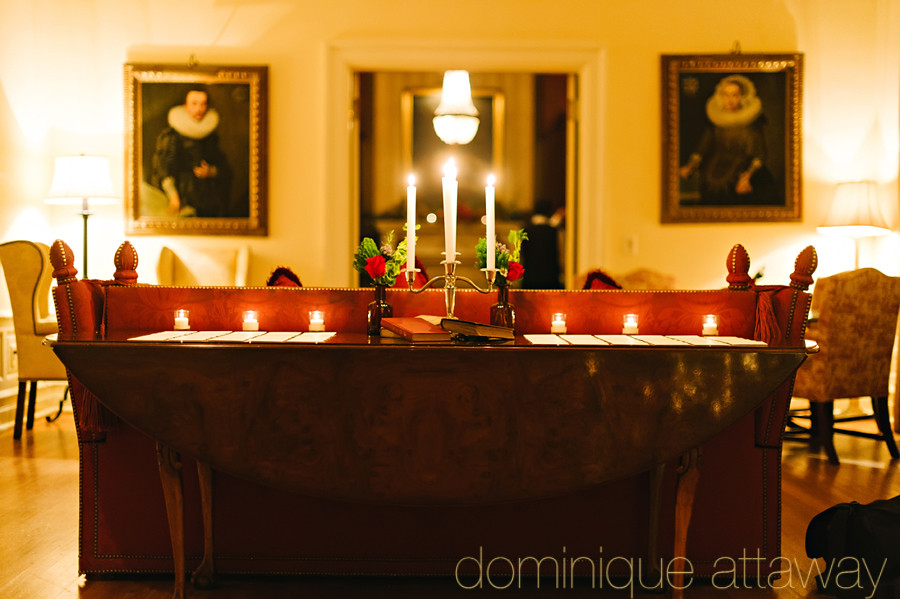 a christmas keswick hall rehearsal dinner