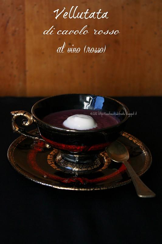 Vellutata di cavolo rosso al vino (rosso)