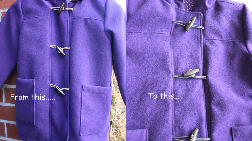 School Days Coat - repaired