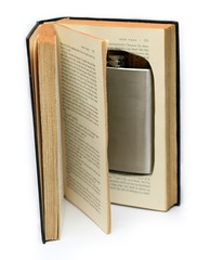 Hollow Book With Flask