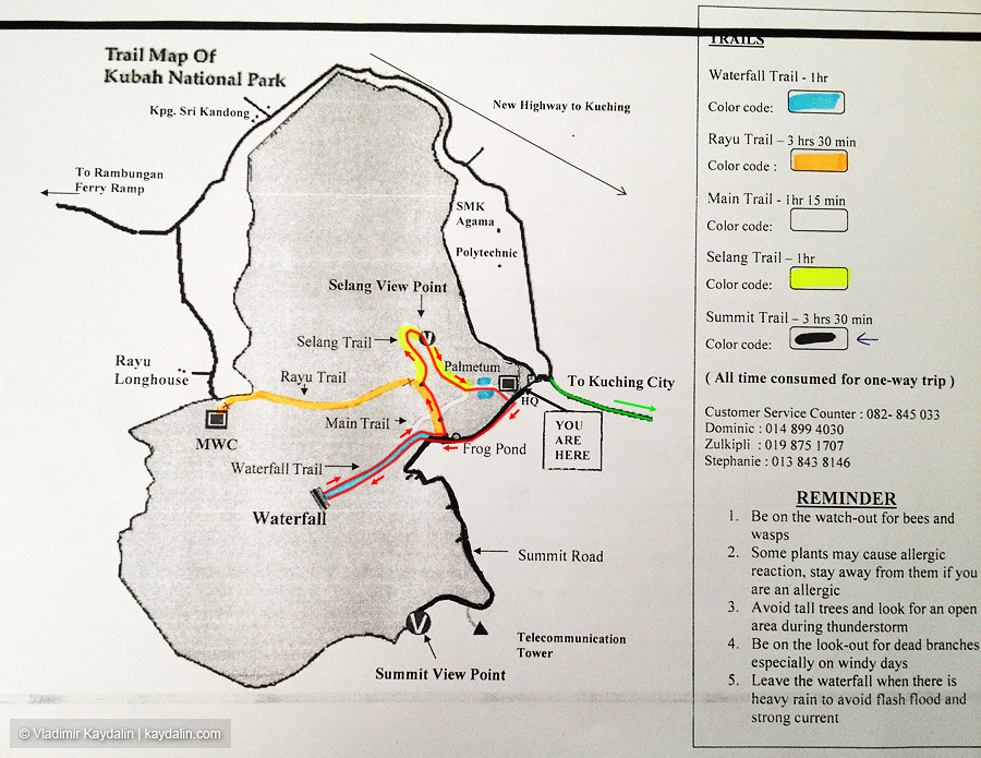 Kubah park map on www.kaydalin.com