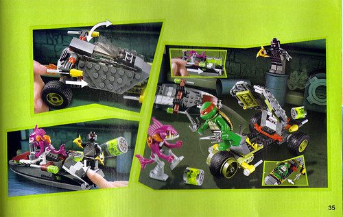 "LEGO Teenage Mutant Ninja Turtles :: ""Stealth Shell in Pursuit"" ; manual ii (( 2013 ))"