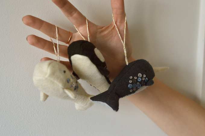 Grainline whale ornaments