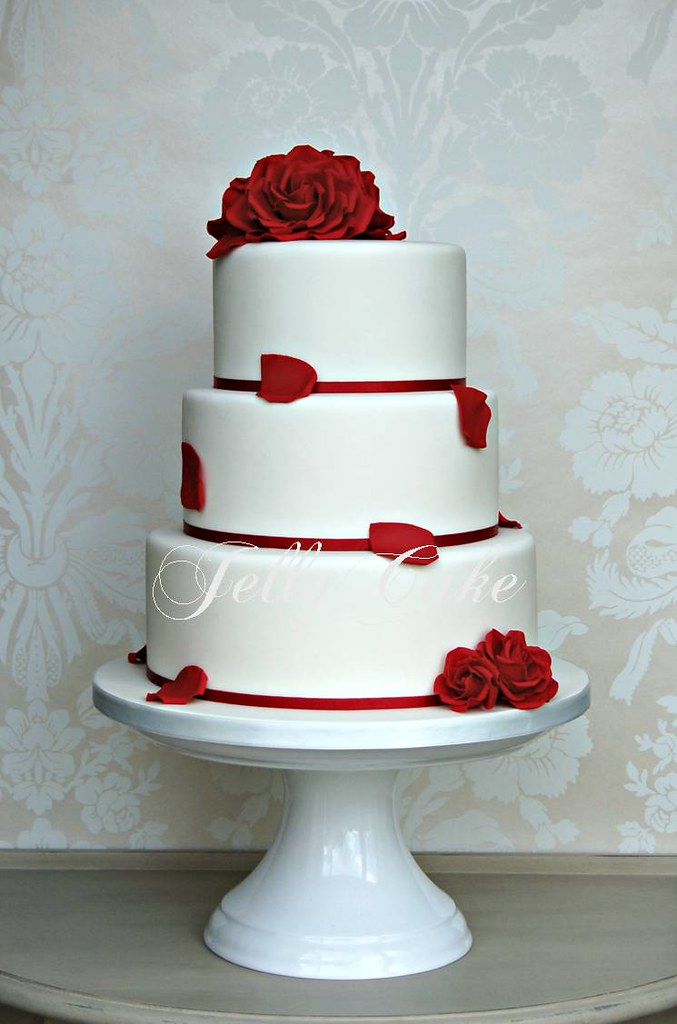 wedding cake red roses www jellycake co uk s most interesting flickr photos picssr 23665