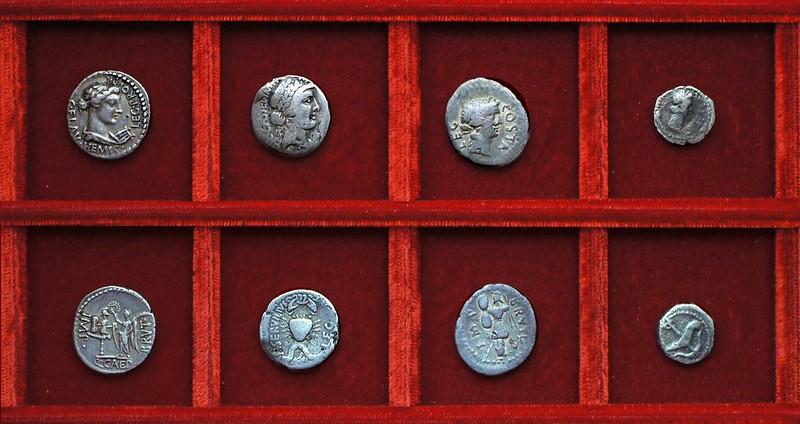 RRC 504 C.FLAV HEMIC Brutus Flavia, RRC 505 C.CASSEI M.SERVILIVS Cassius, Servilia, RRC 506 BRVTVS COSTA LEG, Brutus, Pedania, Ahala collection Roman Republic